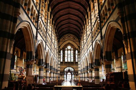 St. Paul's Anglican Cathedral interior in Melbourne, Victoria, Australia