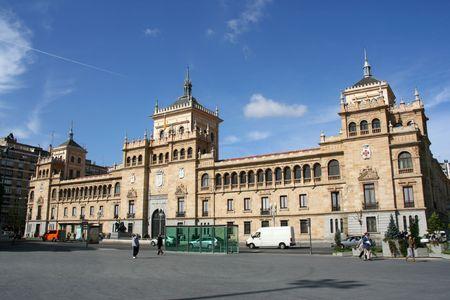 The Academia de Caballeria (Cavalry Academy) faces the Plaza Zorrilla near the Campo Grande in Valladolid, Spain