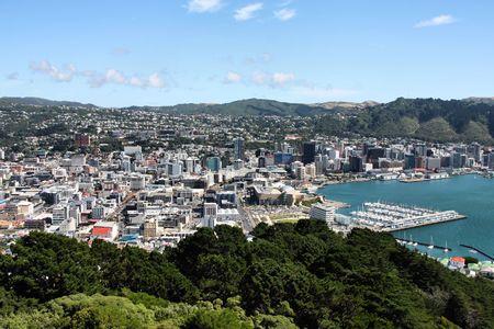 Aerial view of Wellington CBD. North Island, New Zealand.