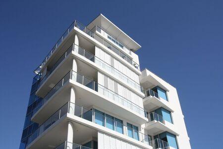 White apartment building in Gold Coast region of Queensland, Australia