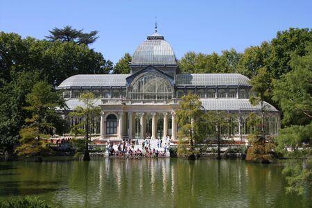 Crystal Palace (Palacio de Cristal) in Retiro Park (Parque del Buen Retiro) - Madrid, Spain