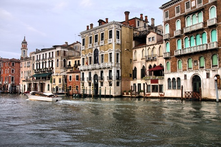 Famous Canal Grande in Venice, Italy. UNESCO World Heritage Site.