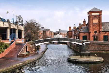 Birmingham water canal network. West Midlands, England.
