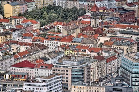 Berlin, Germany. Capital city architecture aerial view with Prenzlauer Berg district, Pankow.