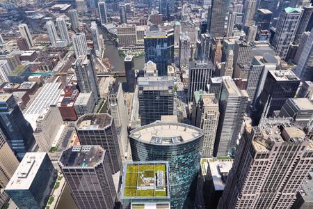Chicago Illinois (USA). City architecture aerial view.