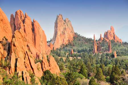 Garden of the Gods in Colorado Springs. National Natural Landmark.