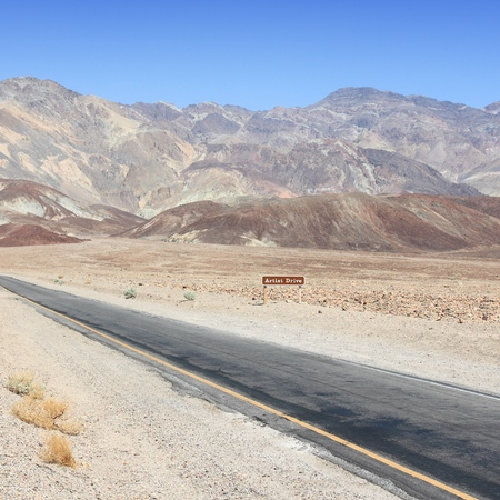 Artist Drive, Death Valley National Park in California.