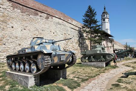 BELGRADE, SERBIA - AUGUST 15, 2012: German tank PzKpfw II Ausf C (Panzer II) on display in outdoor Belgrade Military Museum, Serbia. The museum exists since 1878.