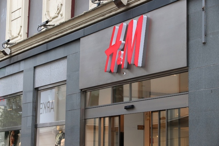 GOTHENBURG, SWEDEN - AUGUST 27, 2018: H&M fashion store in Gothenburg, Sweden. H&M is a Swedish brand known internationally for its casual collection.