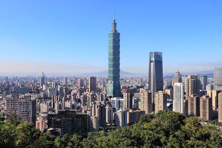 Foto für Taipei City urban skyline seen from Elephant Mountain. - Lizenzfreies Bild