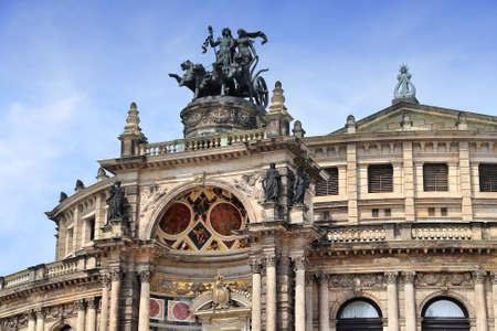 Dresden Semperoper (Saxony State Opera House). Culture in Germany.
