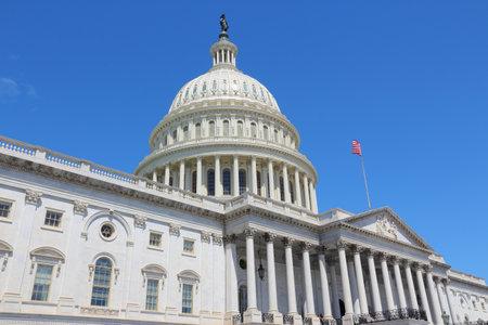 Photo pour US National Capitol in Washington, DC. American landmark. United States Capitol. - image libre de droit