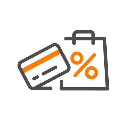 Illustration pour Flat line design concept icon cash back , support,purchase process, online order procedure, website banner and landing page. Vector eps 10 - image libre de droit