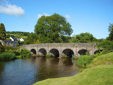 Bridge over River Barle, South West England