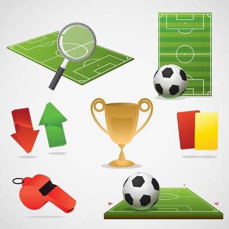 Ilustración de European football design elements.  - Imagen libre de derechos