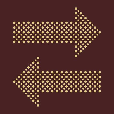 Fine vector dotted arrows  Elements for web, infographic and