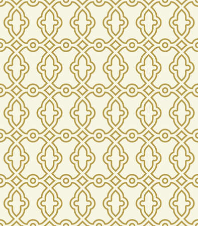 Photo pour Seamless ornament in arabian style. Geometric abstract background. Golden pattern for wallpapers and backgrounds - image libre de droit