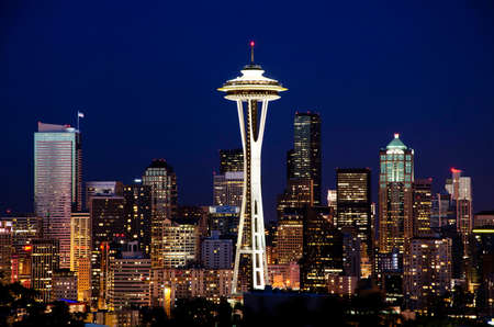 Beautiful nightview of seattle