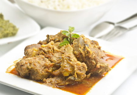Yummy delicious mutton with rice