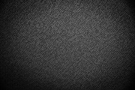 Photo pour black artificial leather background texture - image libre de droit