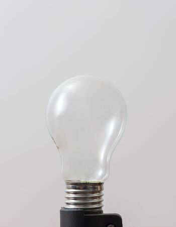 Photo for light bulb without filament over white background - Royalty Free Image