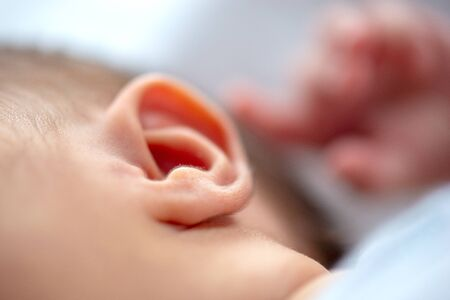 Photo for Closeup of a newborn ear - Royalty Free Image