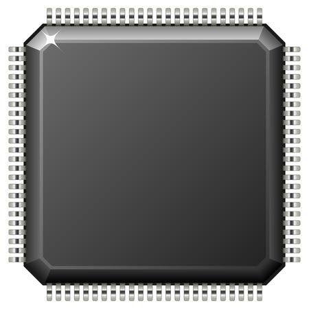 Illustrazione per Vector illustration of microchip isolated on white background. - Immagini Royalty Free