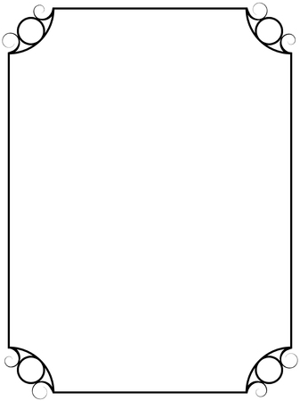 Simple vintage vector frame isolated on white background.