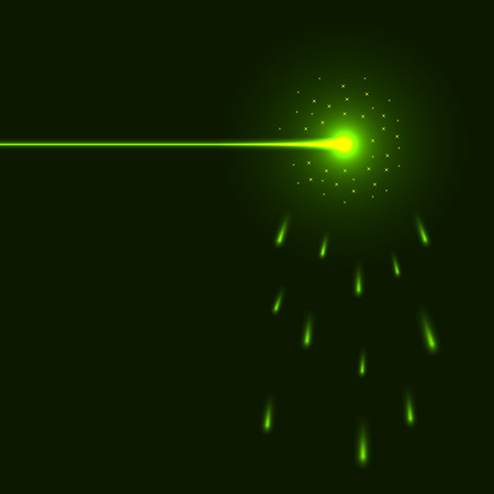 Green laser beam background with copy space.