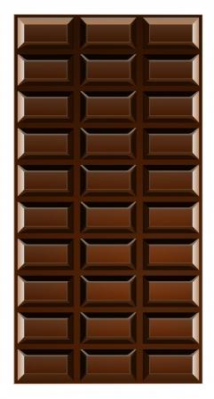 Chocolate bar illustration isolated on white background