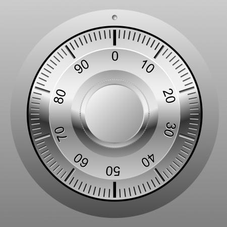 Illustration pour Realistic illustration of safe combination lock wheel. - image libre de droit
