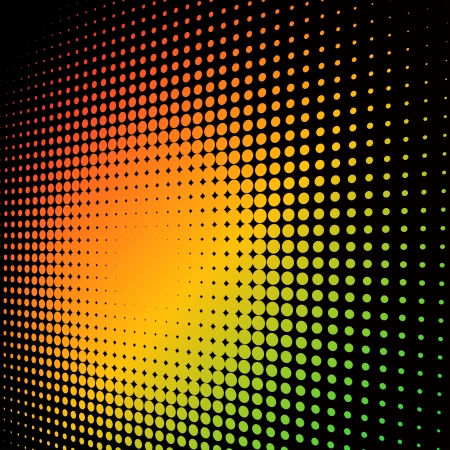Illustration for Abstract colorful halftone background with copy space. - Royalty Free Image