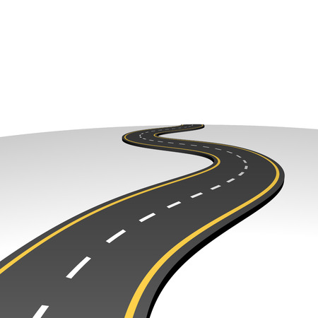 Illustration pour Abstract highway going to horizon with white copy space  - image libre de droit