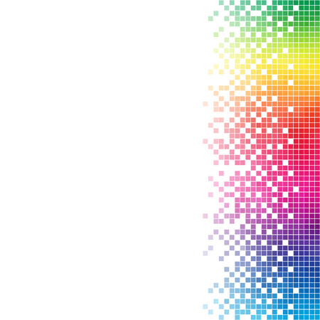 Illustration for Abstract rainbow mosaic vector template with white copy space. - Royalty Free Image
