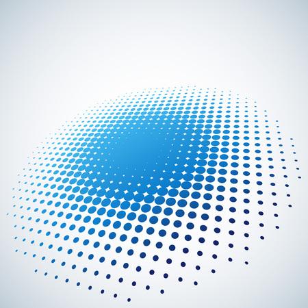 Illustration pour Abstract blue halftone spot vector background with copy space. - image libre de droit