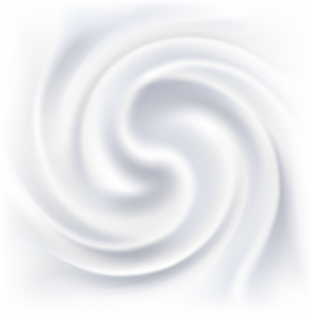 Illustration pour Abstract white cream swirl background. - image libre de droit