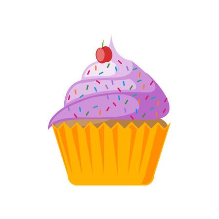 Ilustración de Cupcake icon vector isolated on white background for your web and mobile app design - Imagen libre de derechos
