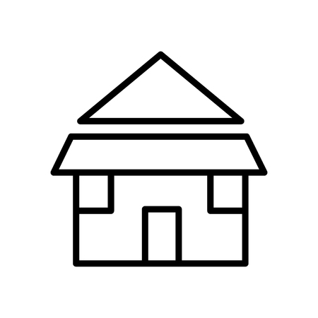 Illustration pour Bungalow icon vector isolated on white background, Bungalow transparent sign , line or linear sign, element design in outline style - image libre de droit