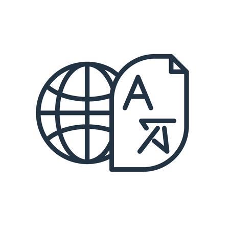 Illustration pour Translator icon vector isolated on white background, Translator transparent sign - image libre de droit