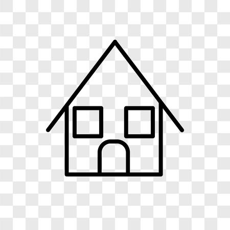 Illustration pour Bungalow vector icon isolated on transparent background, Bungalow logo concept - image libre de droit
