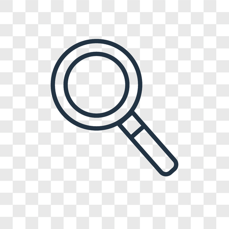 Illustration pour Magnifying glass vector icon isolated on transparent background, Magnifying glass logo concept - image libre de droit