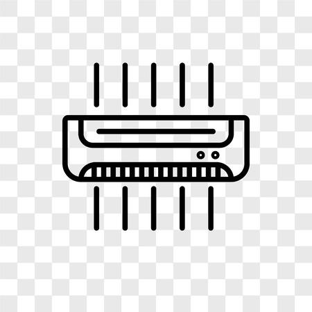 Ilustración de Air conditioner vector icon isolated on transparent background, Air conditioner logo concept - Imagen libre de derechos