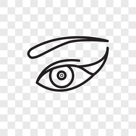 Eye vector icon isolated on transparent background, Eye logo concept
