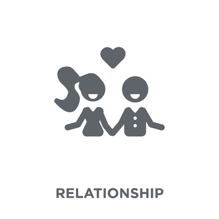 Illustration pour Relationship icon. Relationship design concept from Wedding and love collection. Simple element vector illustration on white background. - image libre de droit