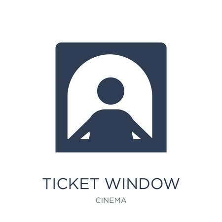 Ticket window icon. Trendy flat vector Ticket window icon on white background from Cinema collection, vector illustration can be use for web and mobile, eps10