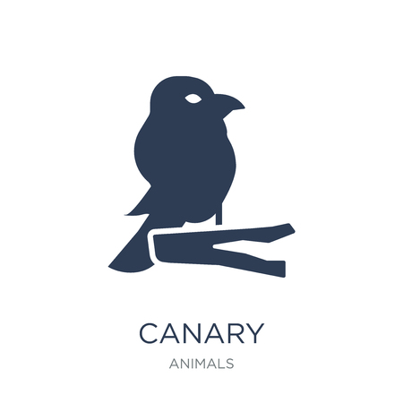 Canary icon. Trendy flat vector Canary icon on white background from animals collection, vector illustration can be use for web and mobile, eps10