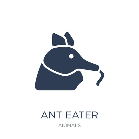 Illustration pour Ant eater icon. Trendy flat vector Ant eater icon on white background from animals collection, vector illustration can be use for web and mobile, eps10 - image libre de droit
