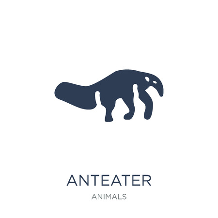 Illustration pour Anteater icon. Trendy flat vector Anteater icon on white background from animals collection, vector illustration can be use for web and mobile, eps10 - image libre de droit