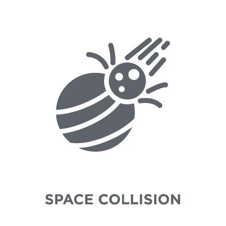 Illustration pour Space Collision icon. Space Collision design concept from Astronomy collection. Simple element vector illustration on white background. - image libre de droit