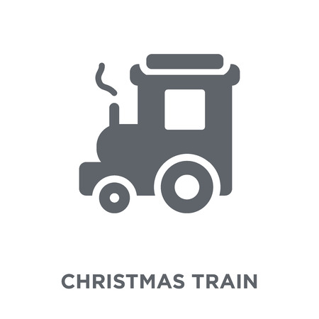 Christmas Train Icon Christmas Train Design Concept From Christmas Collection Simple Element Vector Illustration On White Background Royalty Free Vector Graphics